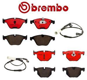 Brembo Kit Front & Rear Ceramic Brake Pad Set with Sensors For BMW E60 525i 528i