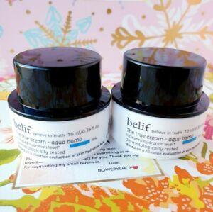 2x BELIF The True Cream - Aqua Bomb .33oz  Deluxe Travel Size - NEW FREE SHIP