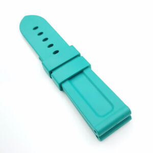 24mm / 22mm 115/75mm Length Rubber Band Strap for PAM PAM111 Wirstwatch
