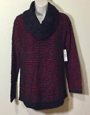 New Women Cowl Neck Long Sleeve Fall Winter Sweater S Small Petite SP Red NWT