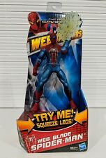 THE AMAZING SPIDER MAN WEB BLADE SQUEEZE LEGS ACTION WEB BATTLERS *MINT*