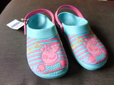 M&S Peppa Pig Slip On Ligero Zuecos Sandalias De Estilo UK 12 EU30.5 Aqua Mix BNWT