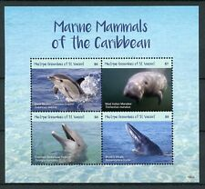 Mustique Gren St Vincent 2018 MNH Marine Mammals 4v M/S Whales Dolphins Stamps