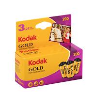 Kodak Gold 200 Color Print 35mm Film, 3 Pack 24 Exp per roll