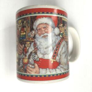 Vintage JC PENNEY SANTA CLAUSE CHRISTMAS MUG, United Way, Betty Whiteaker 1999