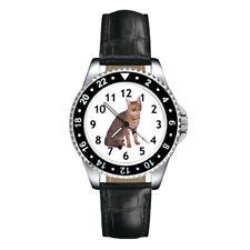 California Spangled Cat Mens Ladies Unisex Leather Strap Quartz Wrist Watch
