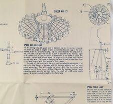 Vintage Spool Lights & Mid Century Furniture Woodworking Craft Patterns 1965