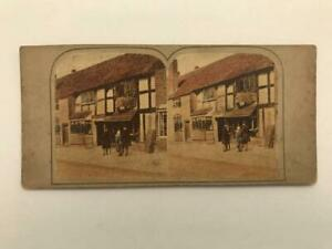 1800s Early Stereoview Shakespeares House Stratford on Avon