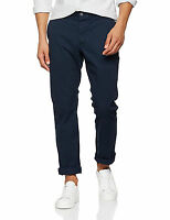 French Connection Mens Chinos Slim Cotton Stretch Trousers Navy Chino Pants