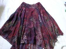 Peruvian Connection Silk Floral Skirt Size 4