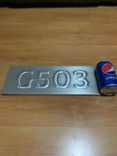 G503  Sign Willys Jeep Ford Gpw Alloy Wood Backed Sign Man Cave G503 MB 14x36cm