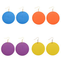 Fashion Jewelry Natural Wooden 6 Color Round African Ethnic Women's Earrings