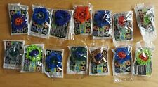 More details for 2002 kelloggs cereal beyblade attack spinners 14 different colour variation mint