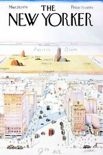 """The New Yorker 1976 Cover Saul Steinberg Art Re-Print Poster 16"""" x 24"""""""