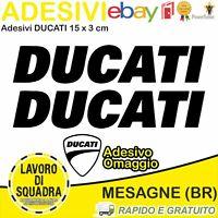2 Adesivi Sticker DUCATI serbatoio 916 996 998 999 748 S PANIGALE FACTORY NERO