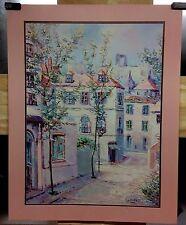 LAFORET ART POSTER LITHO PRINT NO. 206-11335 22 X 28 INCHES 1989 STREET VILLAGE