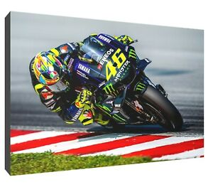 Valentino Rossi bank canvas wall art Wood Framed Ready to Hang XXL