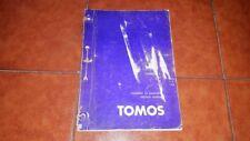 SERVICE MANUAL MOTORE ENGINE YACHT TOMOS 3 3,5 4 4,5 NAVODILO ZA POPRAVILO 1981