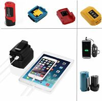 USB Charger Adapter Tool Battery Power Convert Connector for Makita Milwaukee