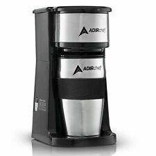 AdirChef Grab N' Go Personal Coffee Maker with 15oz Travel Mug Black/Stainless