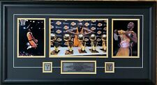 Los Angeles Lakers Legend Kobe Bryant 3 Picture Collage Framed with Pins & Plate