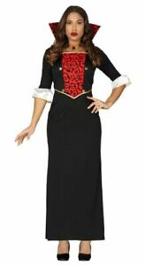 Womens Gothic Vampiress Costume Dracula Halloween Ladies Fancy Dress Outfit