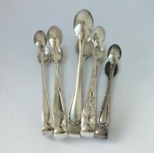 5 Pairs of English Hallmarks Solid Sterling Silver Sugar Tongs/ 92 g