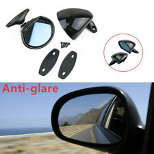 2X Universal Door Wing Rear Side View Mirror Blue Anti-glare Vintage Black Car