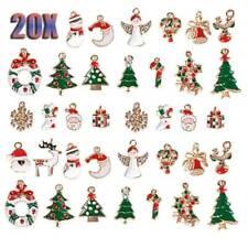 20Pcs/Set Enamel Alloy Mixed Christmas Charms Pendant Jewelry DIY Making Crafts