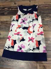 Gymboree Eiffel Flowers Floral Dress Girls Navy Blue Pink NWT Size 5