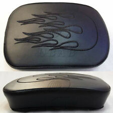 Suction Cup Flame Pillion Pad Passenger Rear Seat for Harley Sportster Chopper