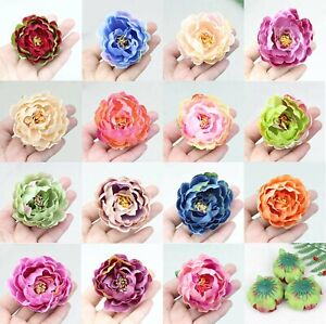 80pcs/Lot Assorted colors 2.36inch Silk Peony Heads Artificial Peony Flower DIY