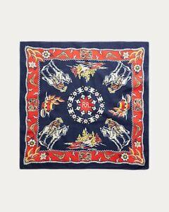 Rrl Bandanna Indigo Print Cotton Bandana Double Rl Ralph Lauren polo
