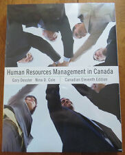HUMAN RESOURCES MANAGEMENT IN CANADA (Canadian 11th Edition)