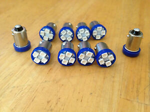 10 Blue Fits Studebaker BRIGHT 12V LED Instrument Panel Light Bulb Lamp 57 NOS