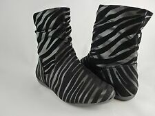 Women Boots Ankle High Comfort Fashion Zebra Leopard Design