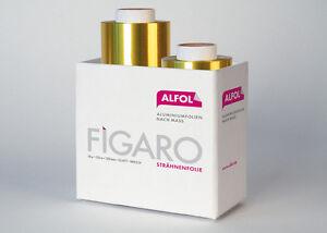 "2x Strähnenfolie ""Figaro"" 50 m goldene Folie; extra stark"