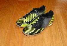 Adidas Predator Absolado Turf Soccer Cleats Size 4 Black Silver Neon Yellow Shoe