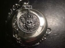 Skull Death King Skull Coin fob Edwardian Physician Style pocket watch chain