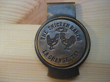The Chicken Ranch Brothel Sex solid brass Money clip w/ Antique Like Patina #LG
