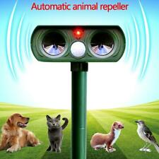 Solar Power Ultrasonic Pest Animal Repeller Garden Home  Dog  Scarer Cat