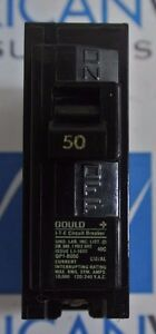 Gould ITE QP1-B050 QP150 1P 120/240V 50A Plug On Circuit Breaker - NEW BOX OF 6