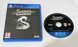 Shadow Warrior Top Game FPS  UK PAL Sony PlayStation 4 PS4 Really fun Hack slash