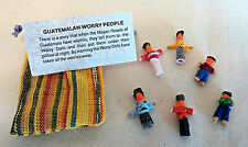Set of 6 Handmade Guatemalan Worry Dolls in Bag Help to Remove Worries Fears