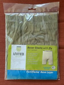 United Join Forces Layer 1 Flame Resistant Boxer w/Fly Size Medium New Sealed