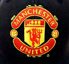 Official Manchester United Adjustable Strap Black Cotton Baseball Cap Size 58 cm