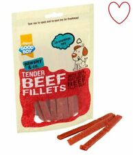 Tender Beef Dog Treats Fillets Meat Chews Natural Healthy Pet