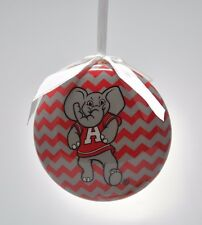 Alabama Crimson Tide Chevron Christmas Ornament - Set of 3