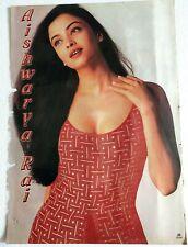 Rare Bollywood Actor Poster - Aishwarya Rai - 12 inch X 16 inch