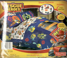 FISHER PRICE RESCUE HEROES twin sheet set BRAND NEW NEVER USED pillowcase Billy+